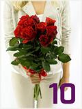Kytice deseti růží