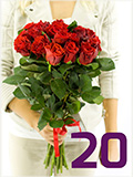Kytice dvaceti růží