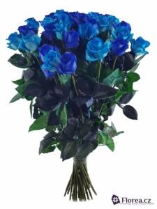 Kytice růží - 35 modrých růží k narozeninám