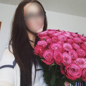 Kytice růží pro dívku