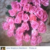 Kytice růží zákazníci - růžové růže