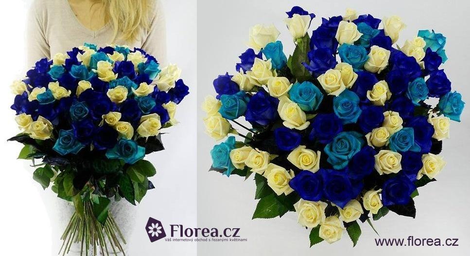Dárek k Valentýnu - kombinované kytice růží
