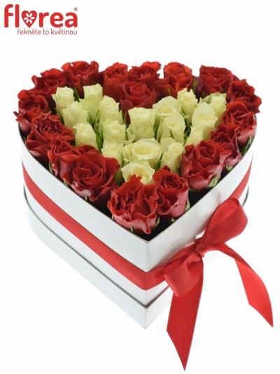 Krabička růží - krásný dárek na sv. Valentýna