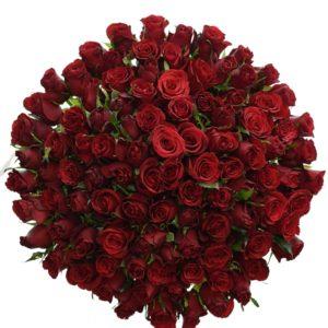 Kytice 100 růží PRESTIGE 50cm